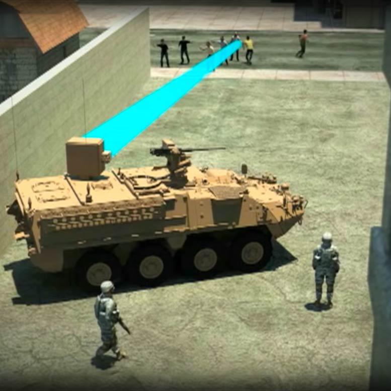 Beamforming werkt als het militaire Active Denial System (ADS)